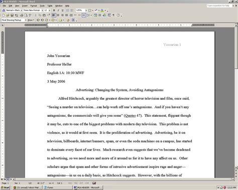 College Paper Headings