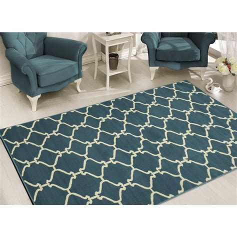 10 x 10 area rugs sweet home stores clifton collection moroccan trellis design blue 7 ft 10 in x 9 ft 10 in