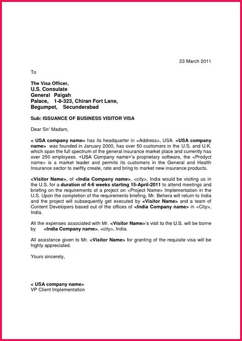 agreement letter for visa invitation letter for visa usa sop exles