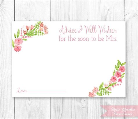 template recipe and advice cards bridal shower vintage floral bridal advice card floral bridal shower