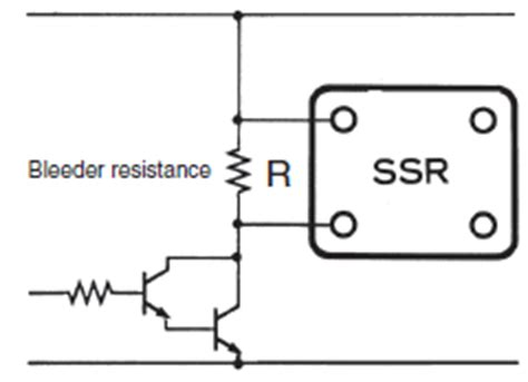 bleeder resistor for ssr faq02155 for solid state relays omron industrial automation