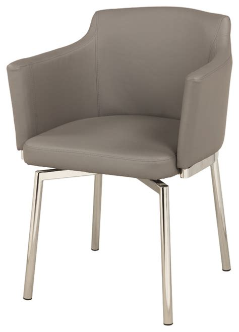 Club Style Dining Chairs Grey Club Style Swivel Arm Chair Set Of 2 Contemporary Dining Chairs By Michael Anthony