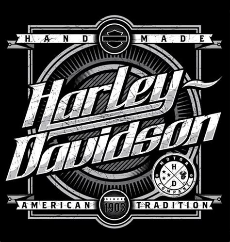 Kaos Harley Davidson Engine Wing typography inspiration and design on