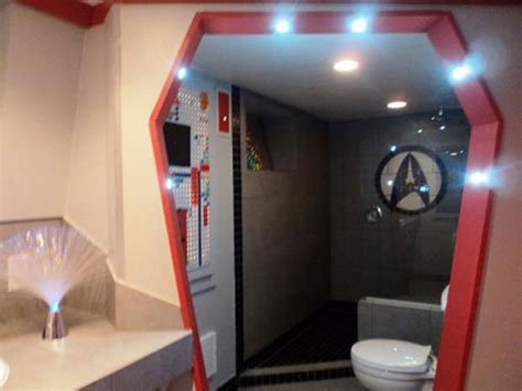 star trek bathroom accessories trekkie decorates entire house in star trek theme home