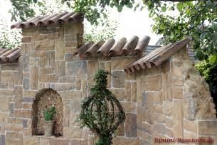 bilder mediterrane gartenmauern kunstrasen garten