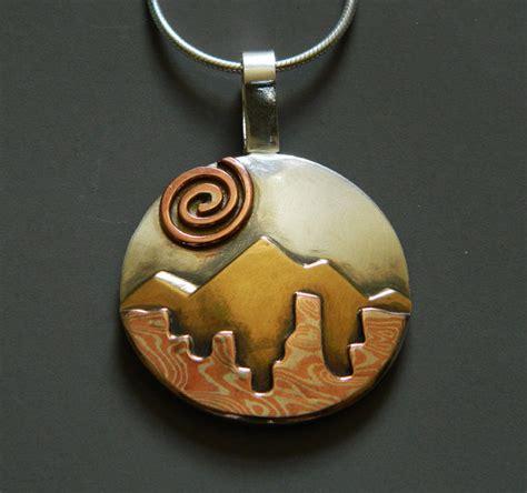 mixing metals jewelry mixed metal jewelry mixed metal necklace mokume gane