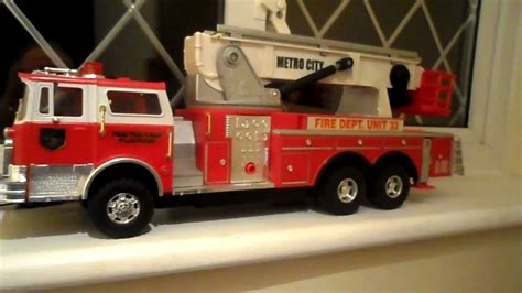 tonka fire truck toy large tonka rescue toy fire engine youtube