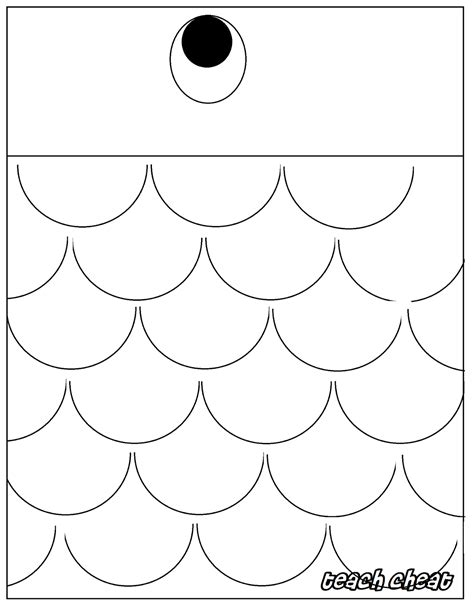 Outline Of A Fish Scale by Teach Fish Lanterns