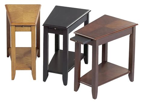 wedge chairside table with drawer wedge end table artenzo