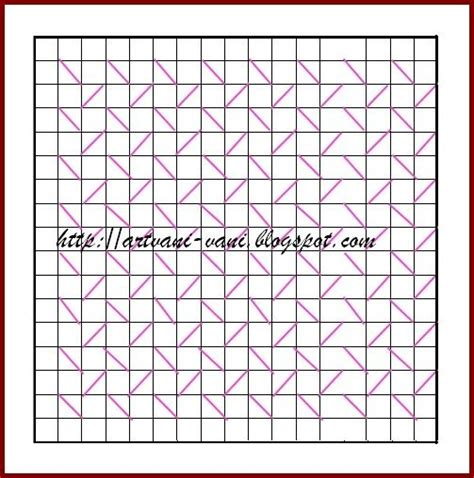 grid pattern for matrix design of canadian smocking vani s blog 2 canadian smocking by joining 2 points