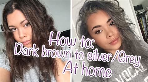 HOW TO: Go from Dark brown to Silver/Grey hair at home