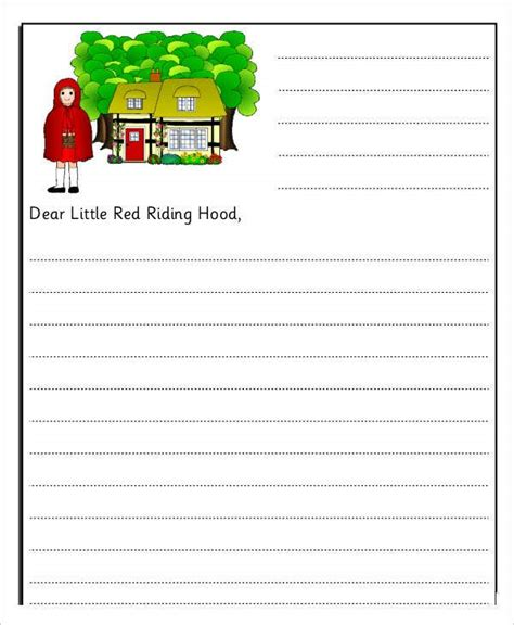 letter templates kids word documents