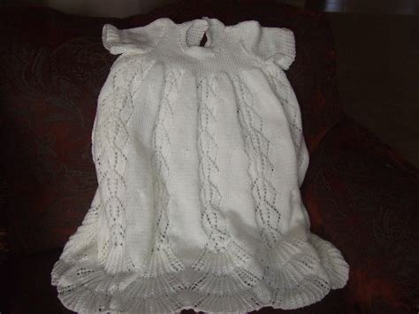 pattern knitting baby dress christening gown knit pattern for babies easy girl or boy