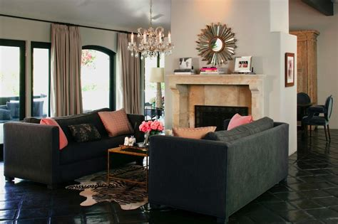 gray sofa mediterranean living room kishani perera
