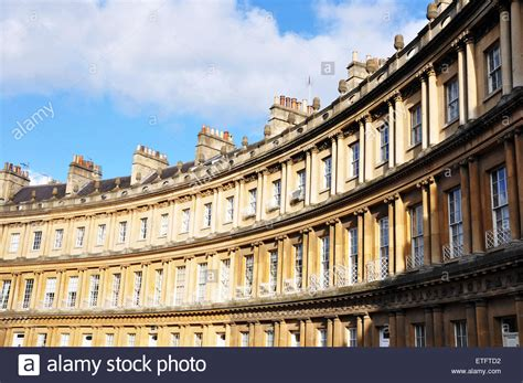 houses to buy in bath the royal circus a famous curved street of georgian houses in bath uk stock photo