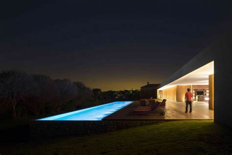 pool at night marcio kogan s casa lee concrete house pool at night with
