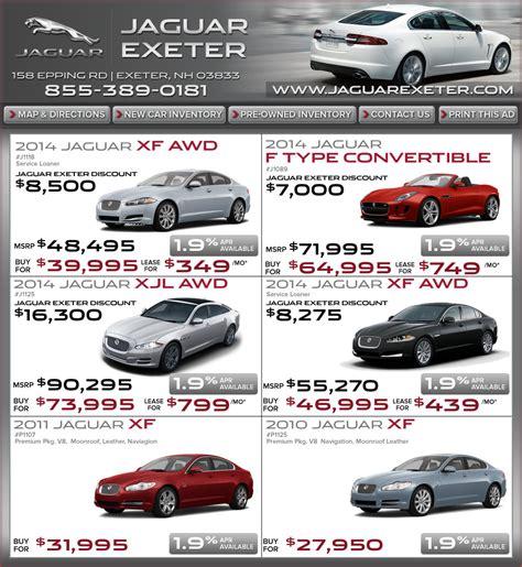 jaguar lease jaguar lease deals jaguar exeter