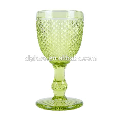 thick stem wine glasses embossed thick stem wine glass buy embossed wine glass