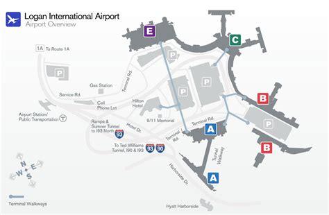 terminal b logan map logan airport terminal b map map of logan airport