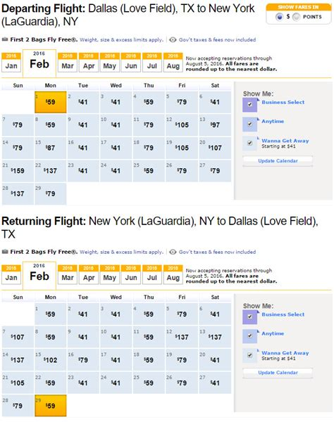Southwest Cheap Flight Calendar Use The Fare Calendar To Find The Cheapest Flights On