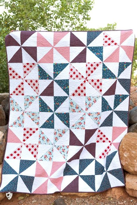 Summer pinwheel quilt the polka dot chair
