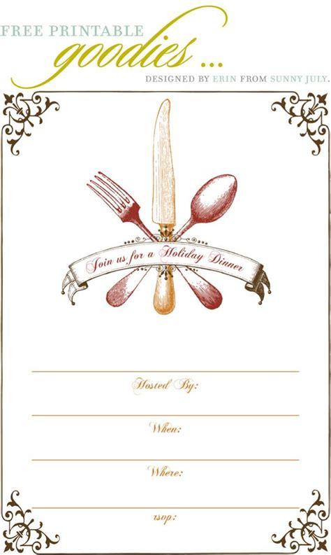 free dinner invitation templates free printable thanksgiving dinner invite gobble gobble