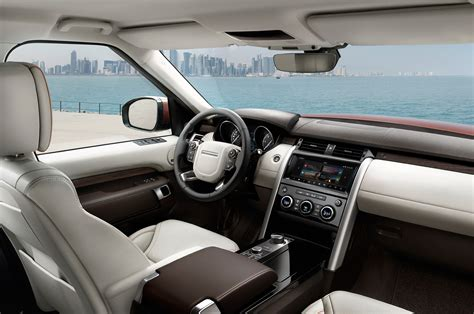 new land rover discovery interior 2017 land rover discovery first look review