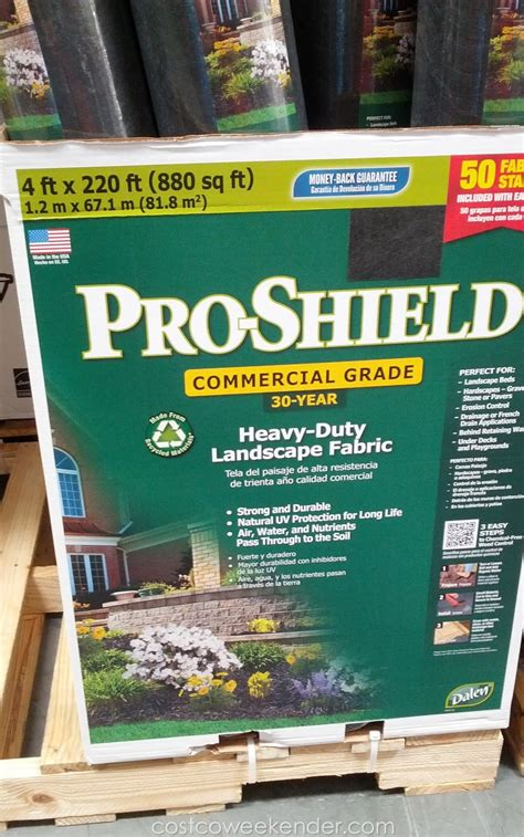Landscape Fabric Deals Dalen Pro Shield Heavy Duty Landscape Fabric Costco