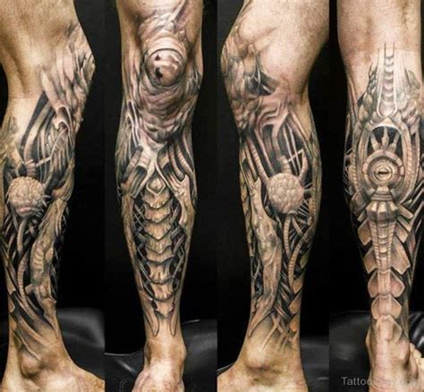 tattoo design biomechanical biomechanical design on leg designs