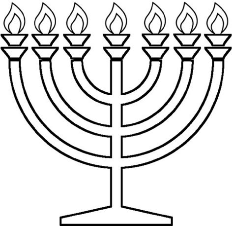 coloring page of a menorah hanukkah coloring pages menorahs family holiday net