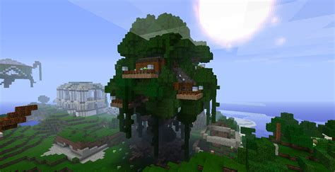 Minecraft Tree House by Voxelbox Treehouse Minecraft Project