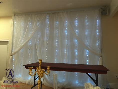 Allcargos Tent Event Rentals Inc 10 X 10 White Sheer Light Backdrop Hire