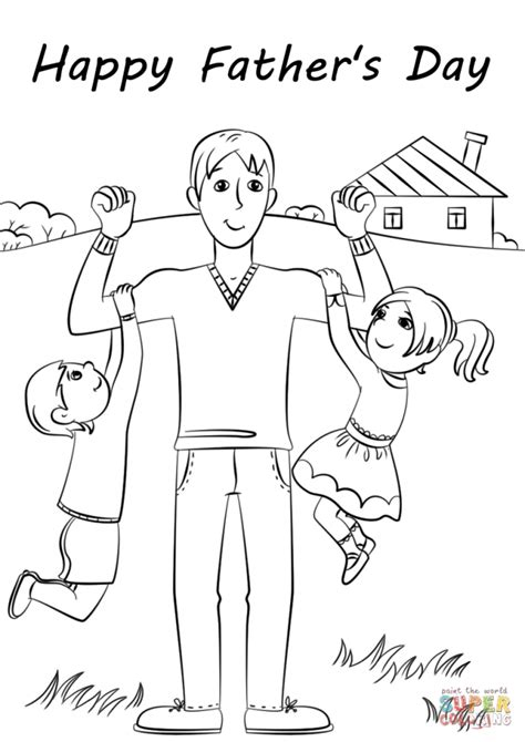 Coloring Page Fathers Day by Get This S Day Card Coloring Pages 4ak80