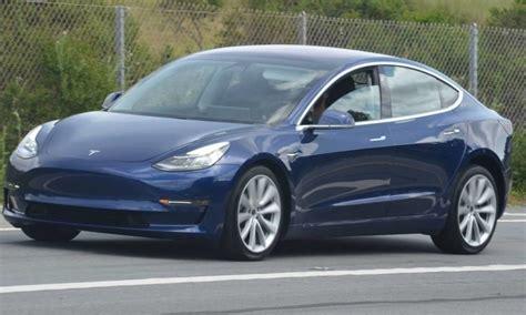 Tesla Blue Refined Blue Tesla Model 3 Spotted Once Again Near Tesla Hq