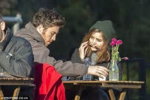 tom hughes latest news jenna coleman is pictured kissing boyfriend tom hughes for