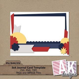 3x4 note card template ak designs 1 template pack freebie journal