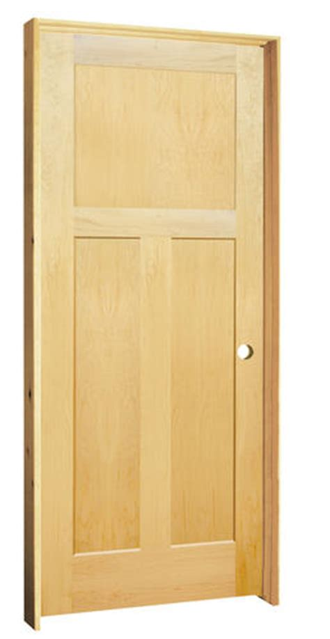 Maple Interior Door Mastercraft Maple Flat 3 Panel Prehung Interior Door At Menards 174