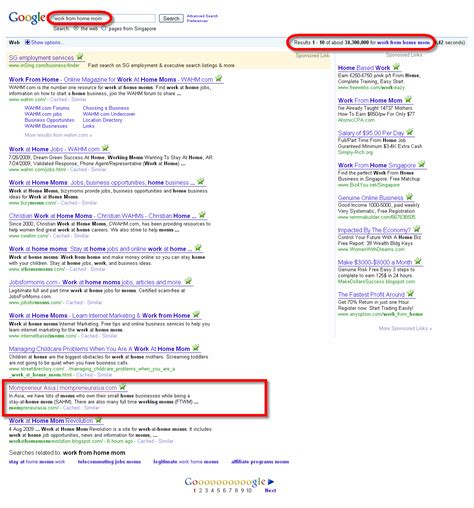 so happy my site rank page for quot work from home