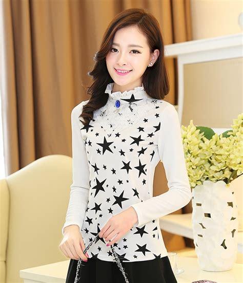 Grosir Baju Blouse My My Style Bl blouse lace murah blue denim blouses