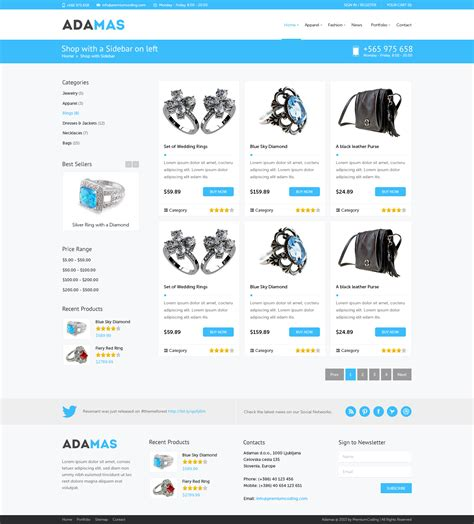 Freebie Adamas Ecommerce Website Psd Template Premiumcoding Single Product Ecommerce Website Template