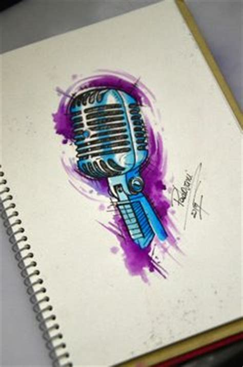 microphone watercolor tattoo music note and microphone tattoo sketch tattoos bands