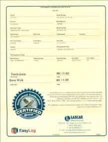 calibration certificate template el usb series data loggers and calibration