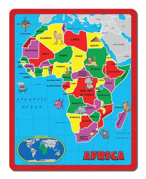 printable puzzle map of africa africa the continent puzzle jigsaw puzzle