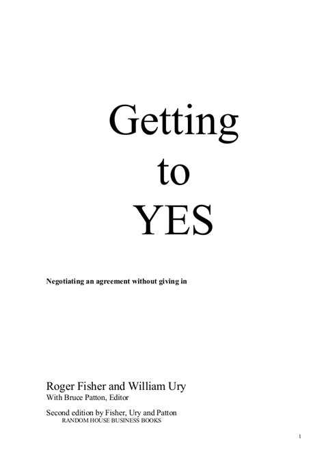 Getting To Yes, English