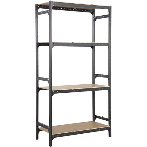 etagere spaceo etag 232 re acier spaceo hubsystem 4 tablettes gris charbon