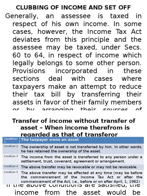 section 64 income tax act clubbing of income income