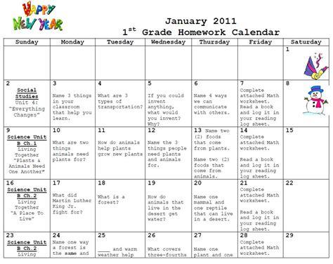 first grade calendar template calendar template 2016