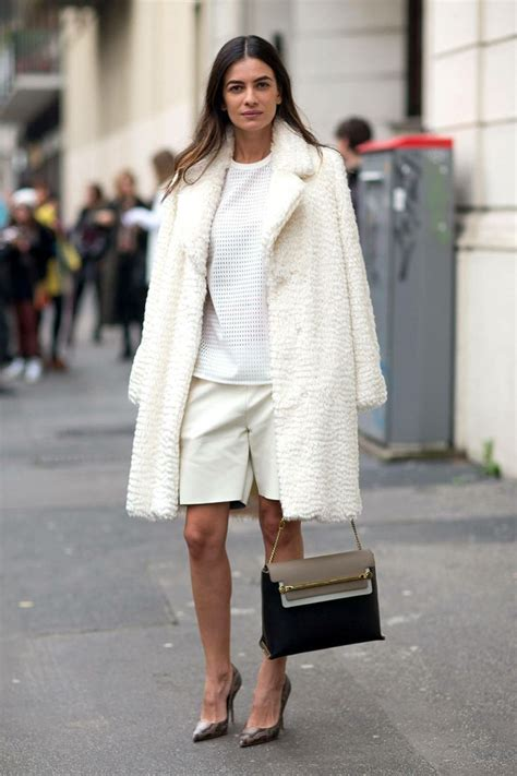 Compare Contrast Wearing A Winter White Coat by 3 Chic Ways To Wear The Winter Whiteout Trend Glam Radar