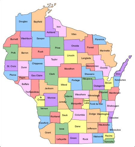 wisconsin counties map wisconsin map and wisconsin satellite images