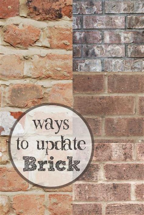ways to update brick diy
